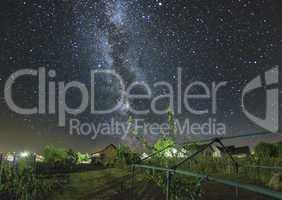 Milky Way above a Garden