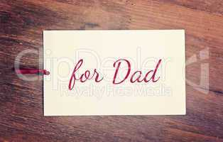 greeting card - fathers day