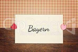 greeting card - german for bavarian