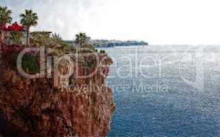 Digital painting of the coastline of Antalya Turkey