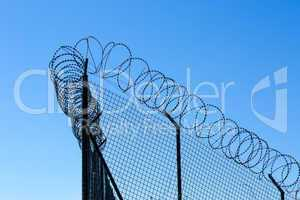 Wired Fence with Spiral Barbwire