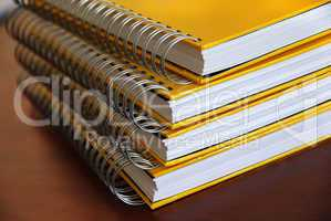 Yellow notebooks stack