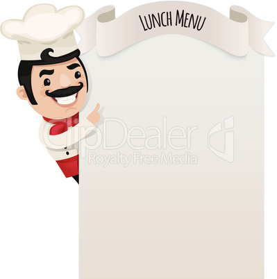 Chef Looking at Blank Menu