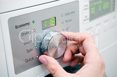 Modern washing machine panel