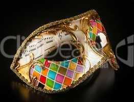 Venetian mask harlequin style