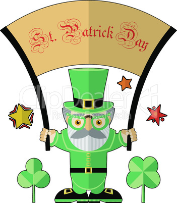 Saint Patrick illustration