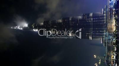 famous place Burj Khalifa Tower time lapse