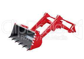 Big red excavator grab