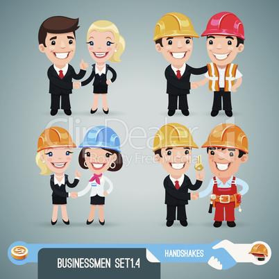 Businessmen Cartoon Characters Set1.4