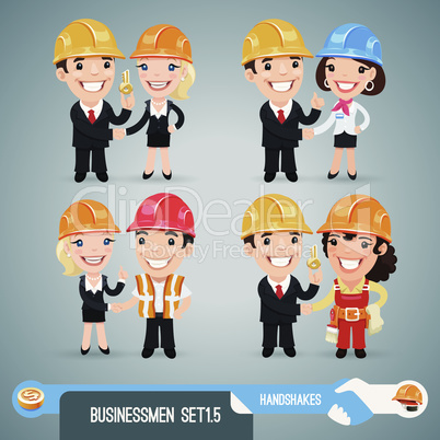 Businessmen Cartoon Characters Set1.5
