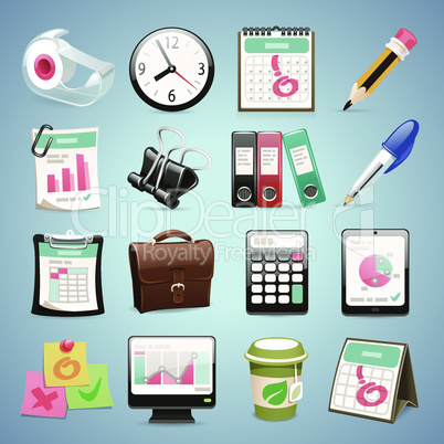 Office Equipment Icons Set1.1