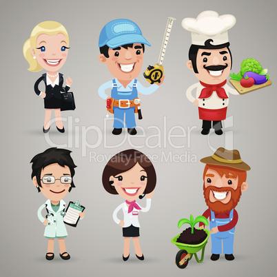 Professions Cartoon Characters Set1.3