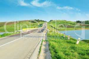 Highway in hilly terrain