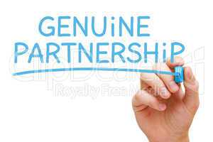 Genuine Partnership Blue Marker