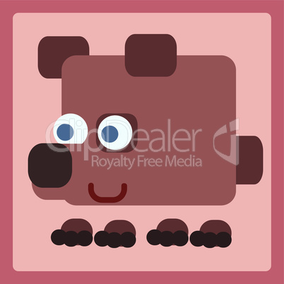 Brown bear cartoon icon