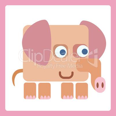 Elephant stylized icon symbol