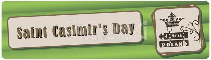 Banner Saint Casimir's Day