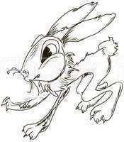 Evil cartoon rabbit