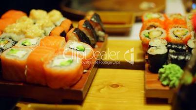 Table at sushi bar