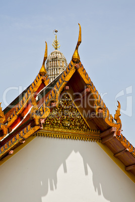 asia    in  bangkok sunny  temple      and  colors     mosaic