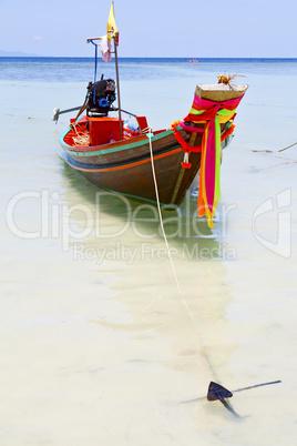 anchor thailand   kho tao bay asia isle blue