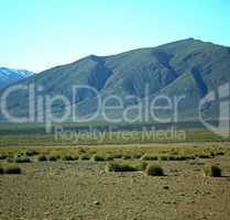 valley in   africa morocco the atlas dry mountain ground isolate