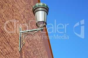 street lamp in morocco  and decoration  brick