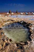 salt lake desert in tunisia