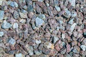 Crushed gravel texture. Material for the construction of roads m
