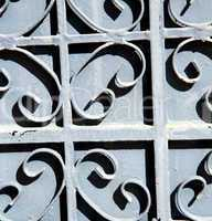 grey metal rusty      morocco in africa the old wood  facade hom