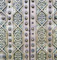 gray  metal rusty      morocco in africa the old wood  facade ho