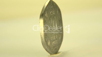 (Perfect Loop) 20 Paise Indian Coin