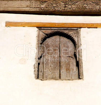 window in morocco africa and old construction wal brick histori