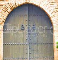 historical in  antique building door morocco style africa   wood