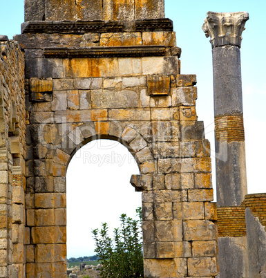 volubilis in morocco africa the old roman deteriorated monument