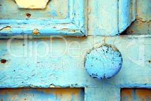 morocco in africa the old wood    rusty safe padlock