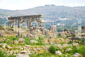 volubilis in morocco africa the old