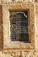 window in morocco africa and old construction wal  historical