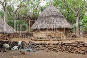 Dorf der Konso, Äthiopien, Afrika