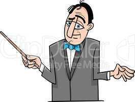 orchestra conductor cartoon illustration