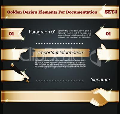 Golden Design Elements For Documentation Set4