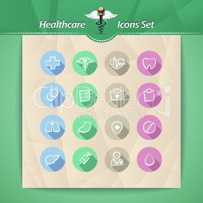 Healthcare Flat Icons Set