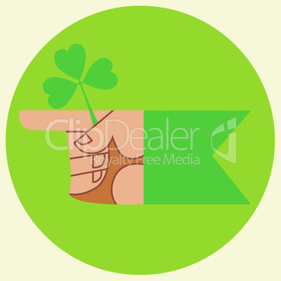 cursor on the festival day of Patrick's hand and Shamrock