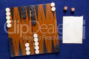 Board game backgammon