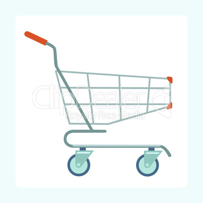 Grocery cart on wheels