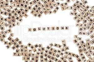 solutions written in small wooden cubes
