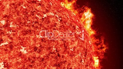 sun with solar wind and coronal mass ejection close up 11613