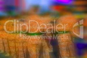 Abstract colouful background blur of soldiers marching