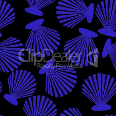 Shells seamless pattern. Vector seashells design