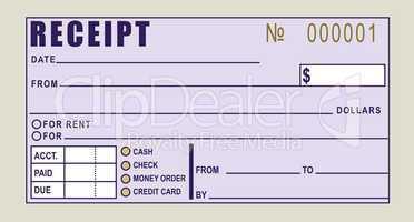 Financial receipt